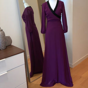 Badgley Mischka Beautiful Plum Gown w/ Beading